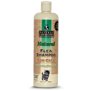 Natural Flea and Tick Shampoo for Cats 16 oz.