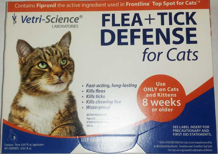 Vetri-Science Flea + Tick Defense for Cats & Kittens