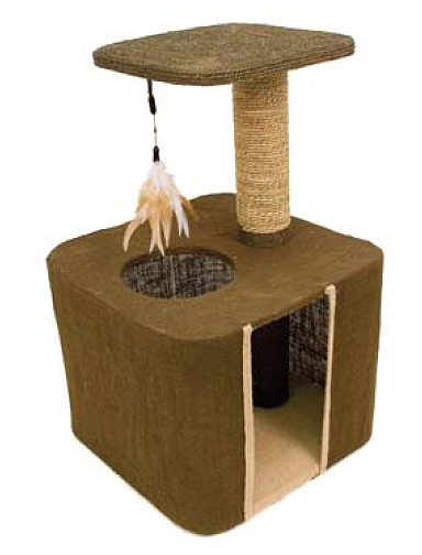 Burlap Condo and Perch by Ware Mfg.