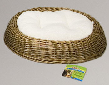 Oval Wicker Bed